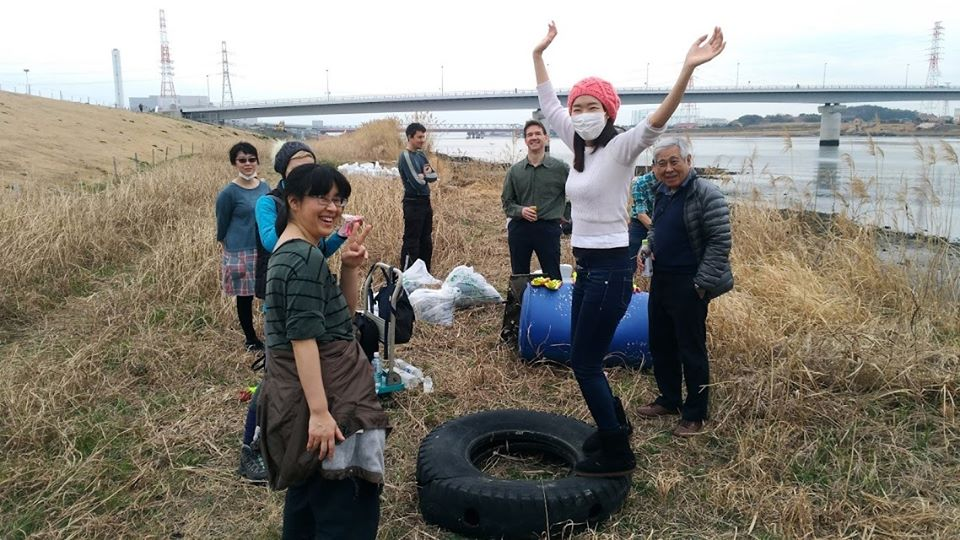 Edogawa river clean up (Barakinakayama) Feb 15, 2020