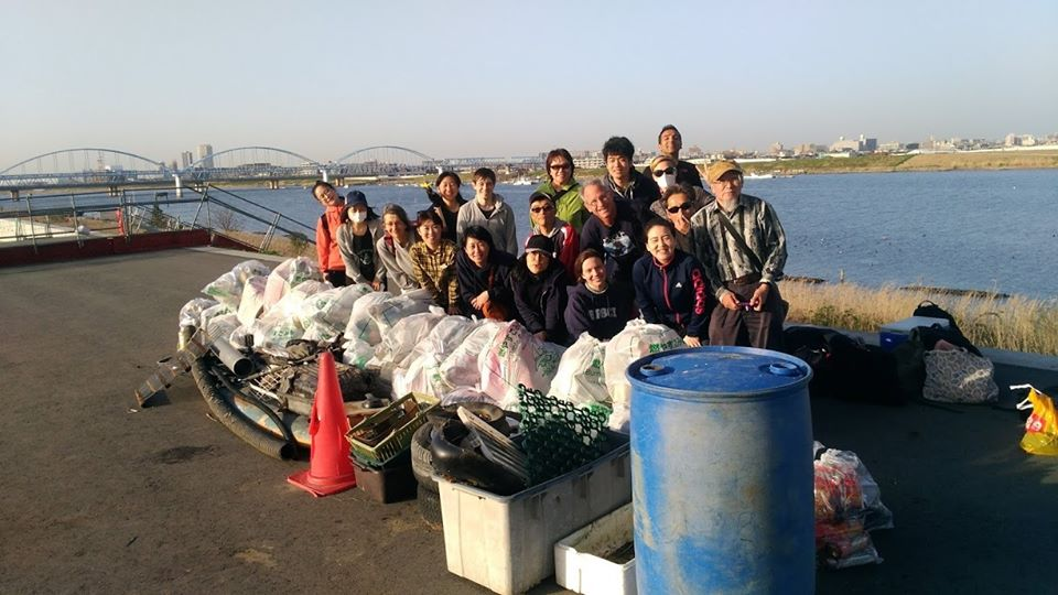 Edogawa river clean up (Myoden Bridge) March 21,2020