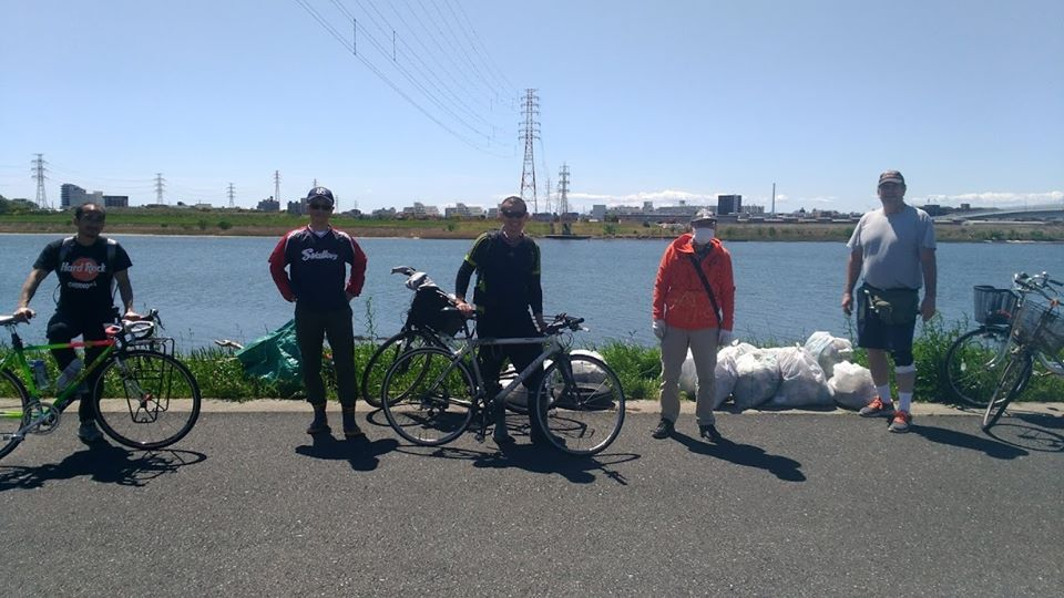 Edogawa river clean up (Barakinakayama) April 19, 2020