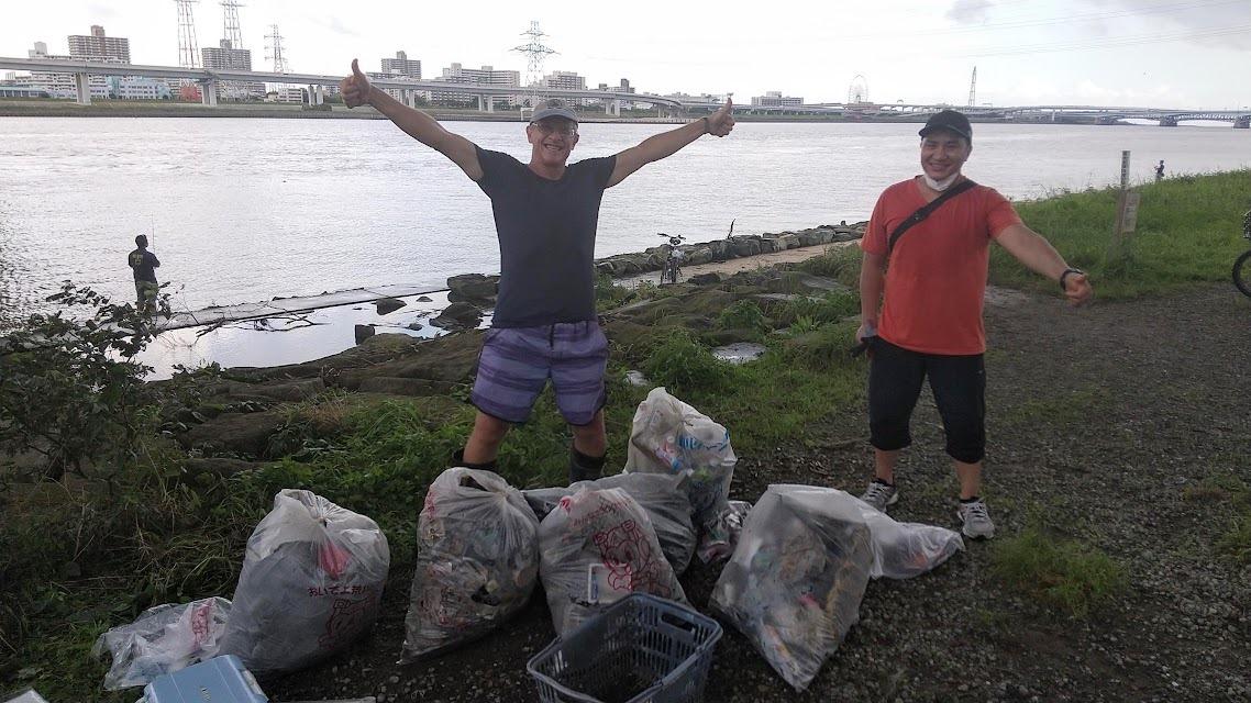 Arakawa River Clean Up (Minami-Sunamachi) July 26, 2020