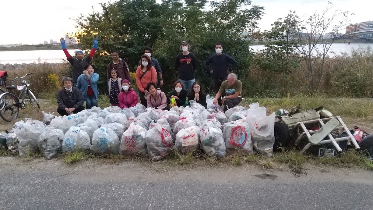 Arakawa River clean up Nov 1, 2020