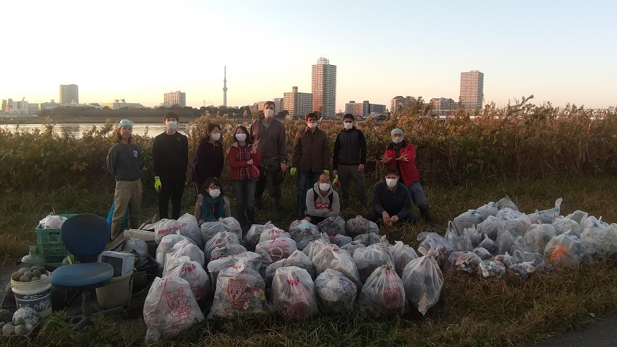 Arakawa River Clean Up Dec 6, 2020