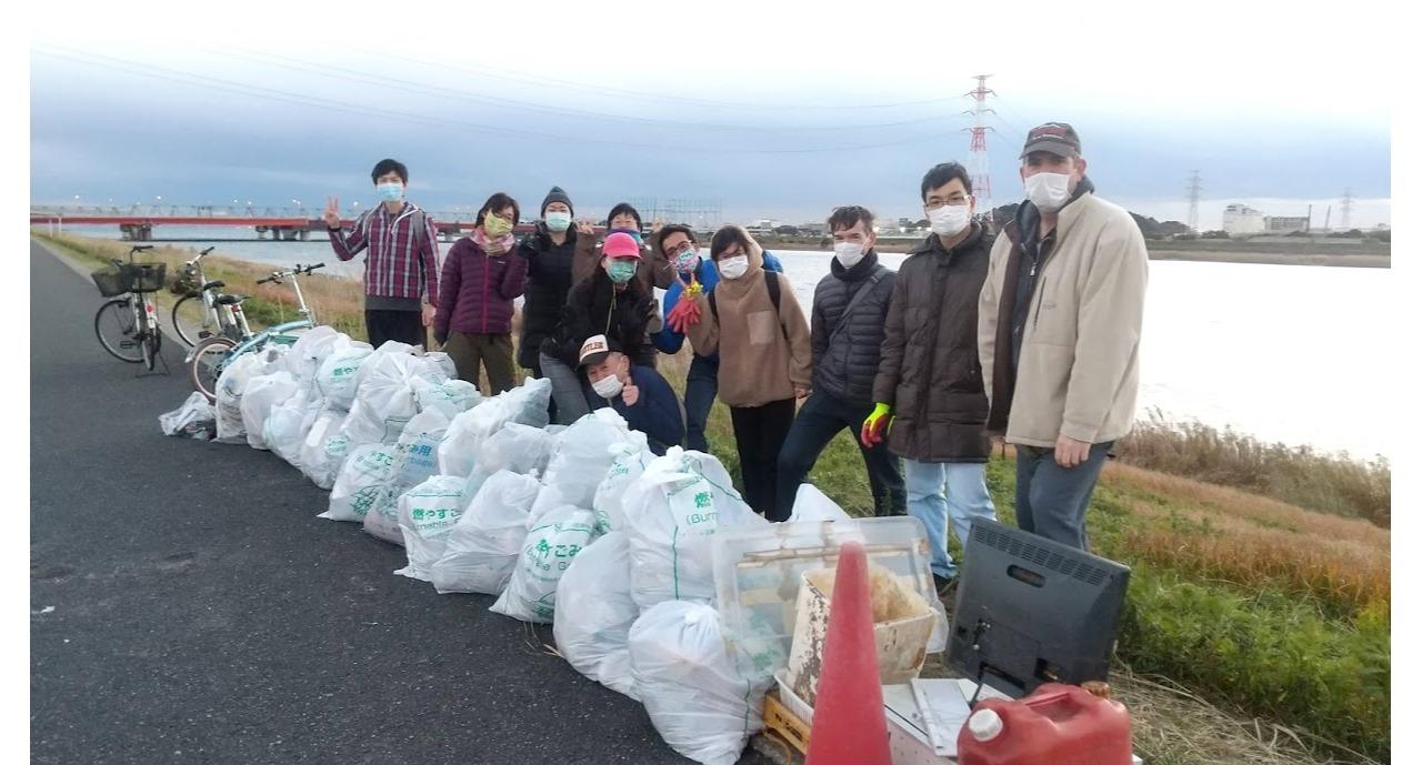 Edogawa River Clean Up Dec 19, 2020
