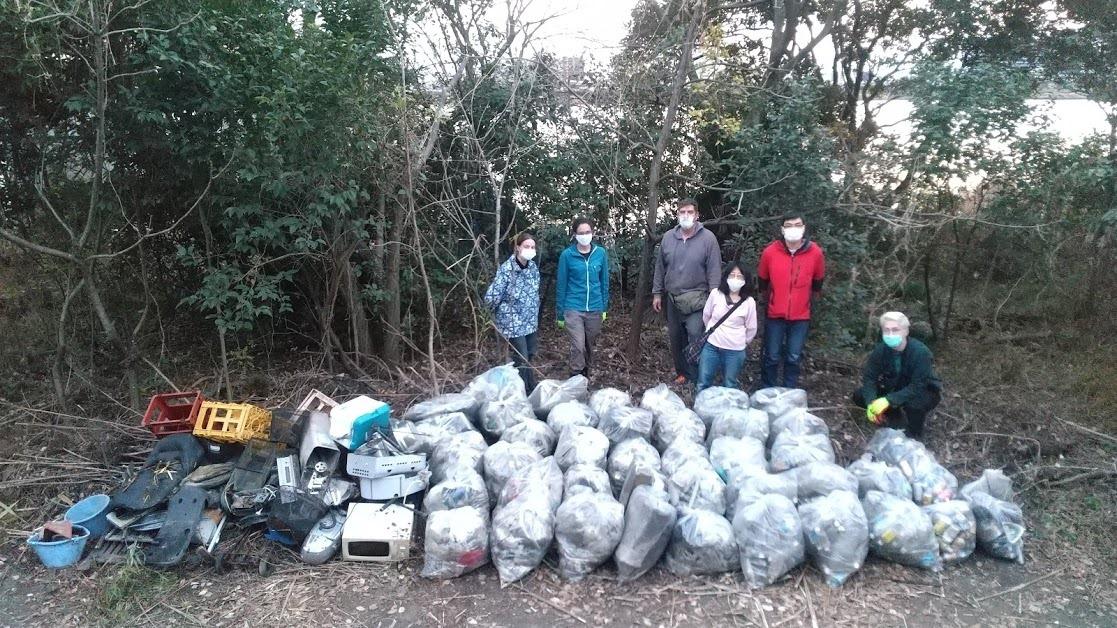Tamagawa River Clean Up Dec 27, 2020