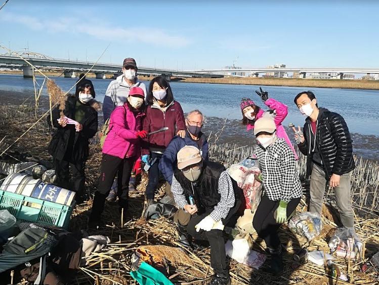 Arakawa River Clean Up (Yahiro) Jan 3, 2021