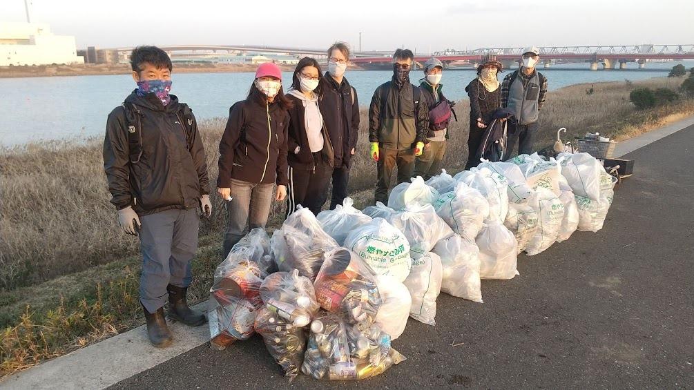 Edogawa River Clean Up Jan 16, 2021