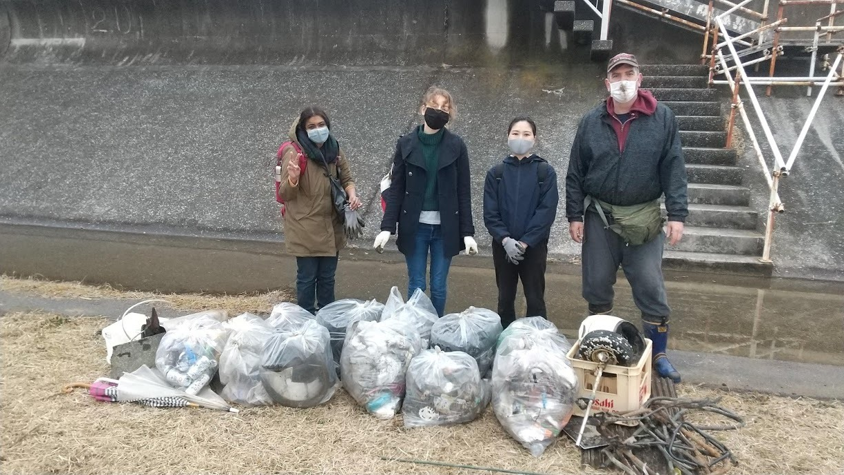 Tamagawa River Clean Up Jan 24, 2021