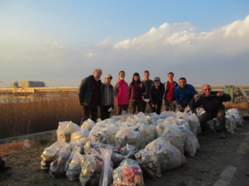 Arakawa River Clean Up Feb 7, 2021