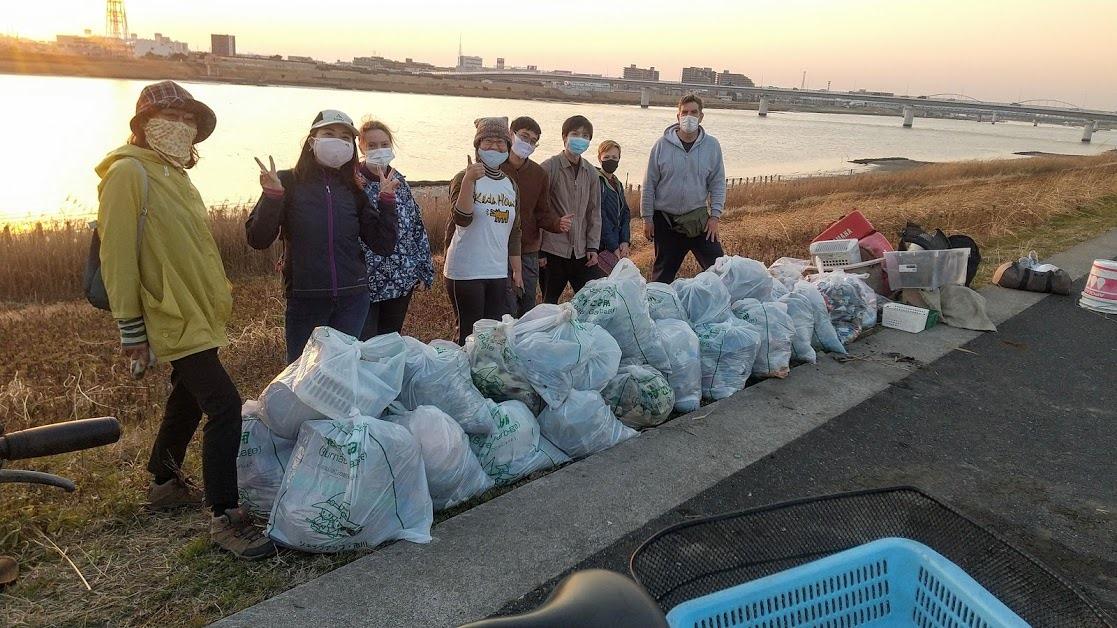 Edogawa River Clean Up Feb 20, 2021