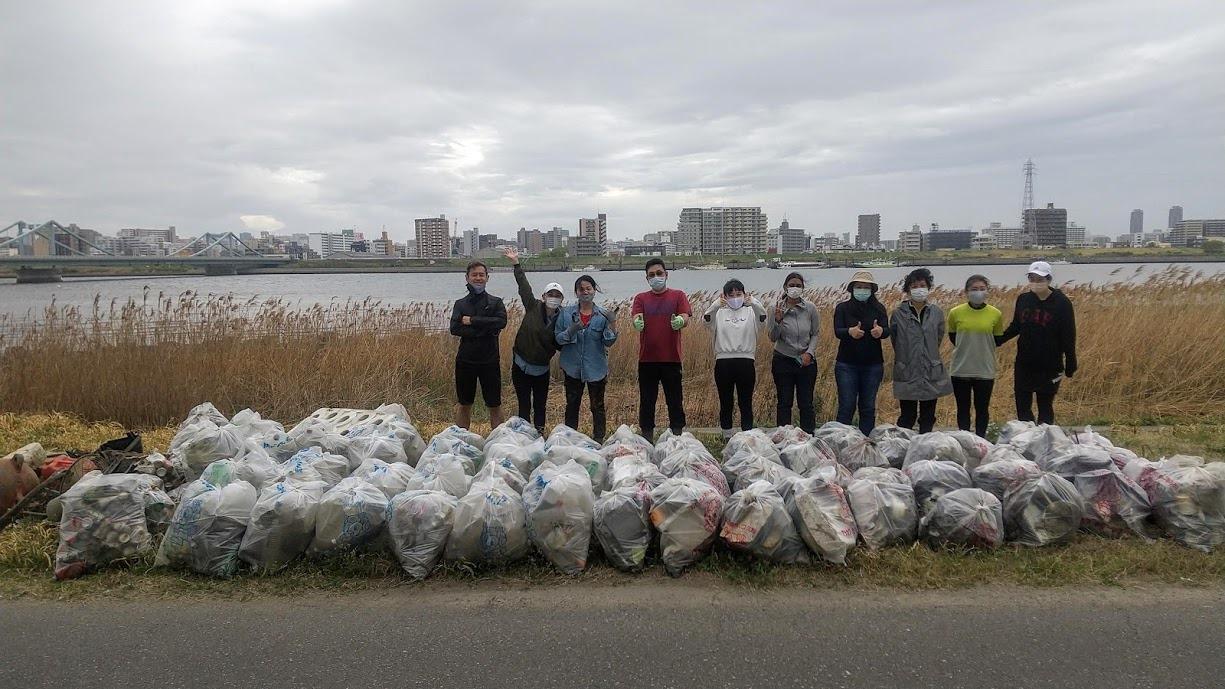 Arakawa River Clean Up Apr 4, 2021