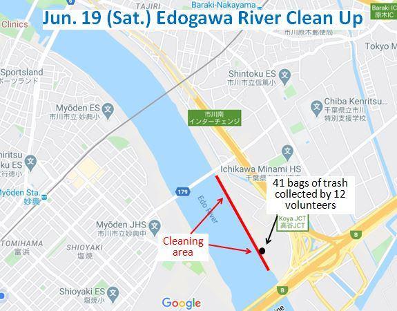 Edogowa River Clean Up June 20, 2021