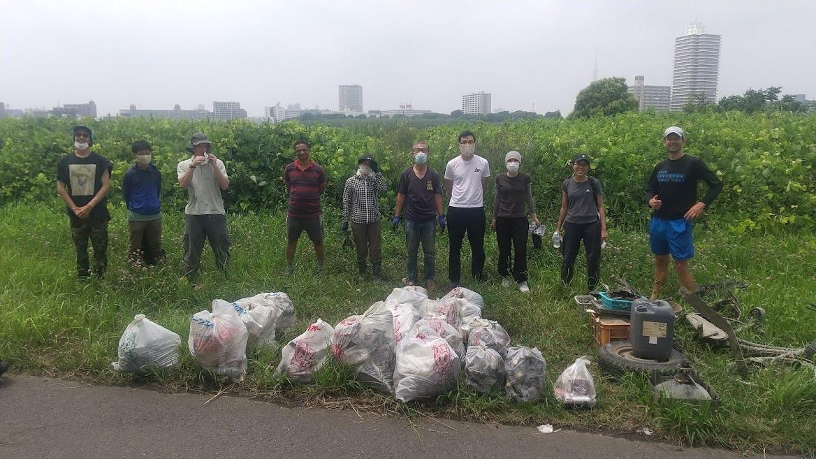 Arakawa River Clean Up July 11, 2021