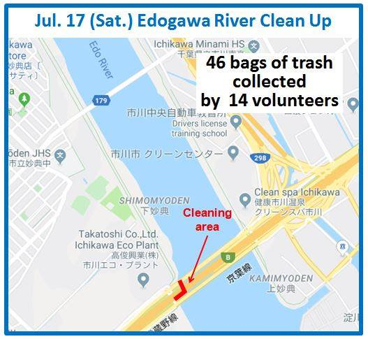 Edogowa River Clean Up July 17, 2021