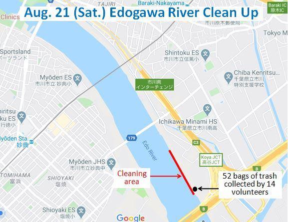 Edogawa River Clean Up August 21, 2021