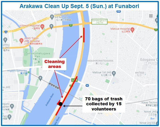 Arakawa River Clean Up September 5, 2021