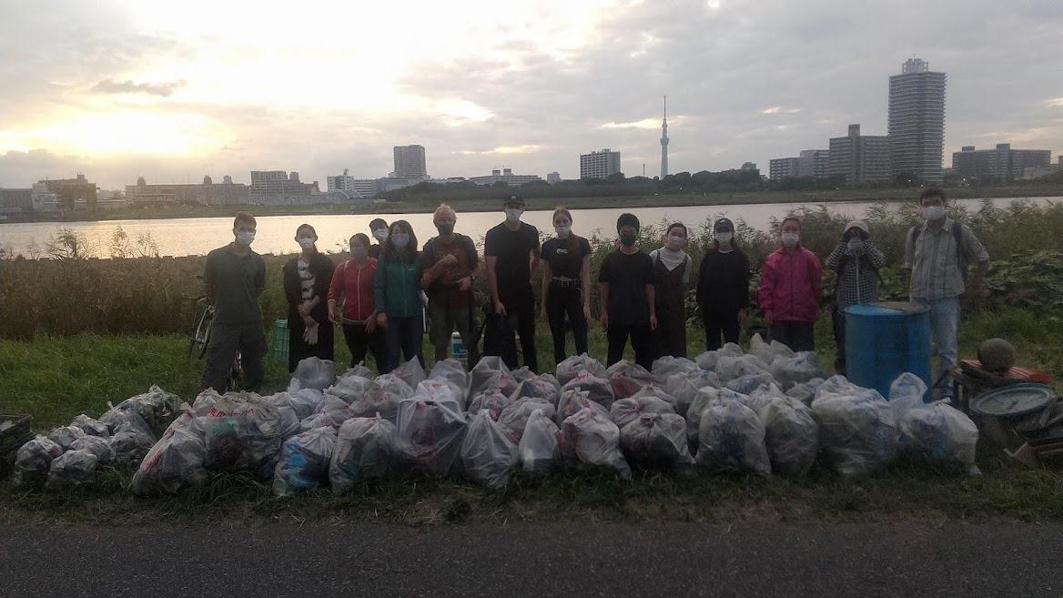 Arakawa  River Clean Up September 26, 2021